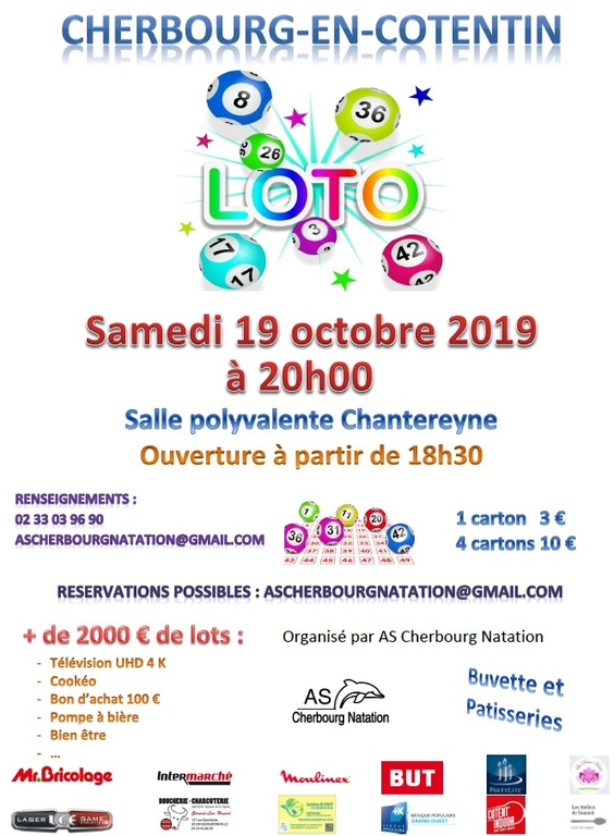 Loto de l'AS Cherbourg Natation